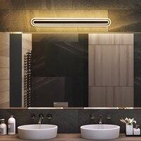 Waterproof Acrylic Bathroom Sconce tocador de maquillaje mueble Black Color 40 60 80 100cm Long wall lamp