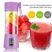 380ml USB Mini Portable 1 minute Juicer Bottle Juice Blender Lemon vegetables