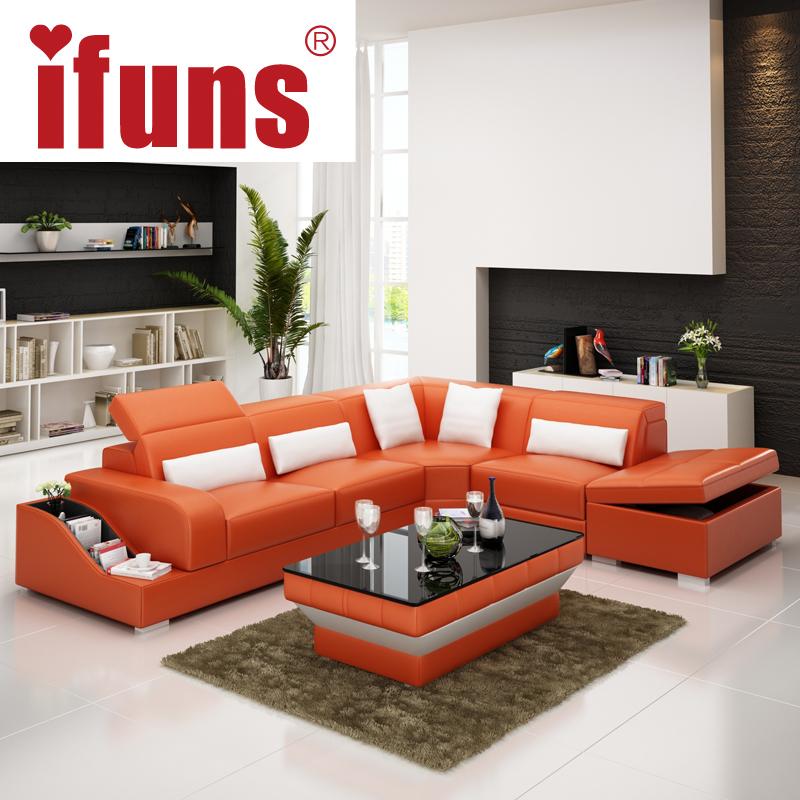 IFUNS recliner leather corner sofa seteuropean style l shape modern leather sectional sofa set home furniture living room-in Living Room Sofas from ... & IFUNS recliner leather corner sofa seteuropean style l shape ... islam-shia.org