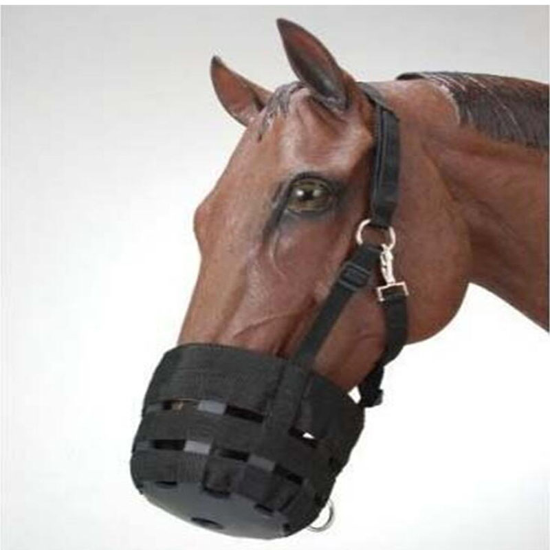 Horse Mouth Cover Adjustable Horse Equipment Anti-bite Set Rubber Bottom EquestrianProtectors PP Woven Horse Riding Accessories