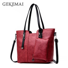 2019 Retro High Quality Women Purses and Handbags Large Capacity Tote Bag 2 Sets Leather Shoulder Bags Crossbody Bags for Women