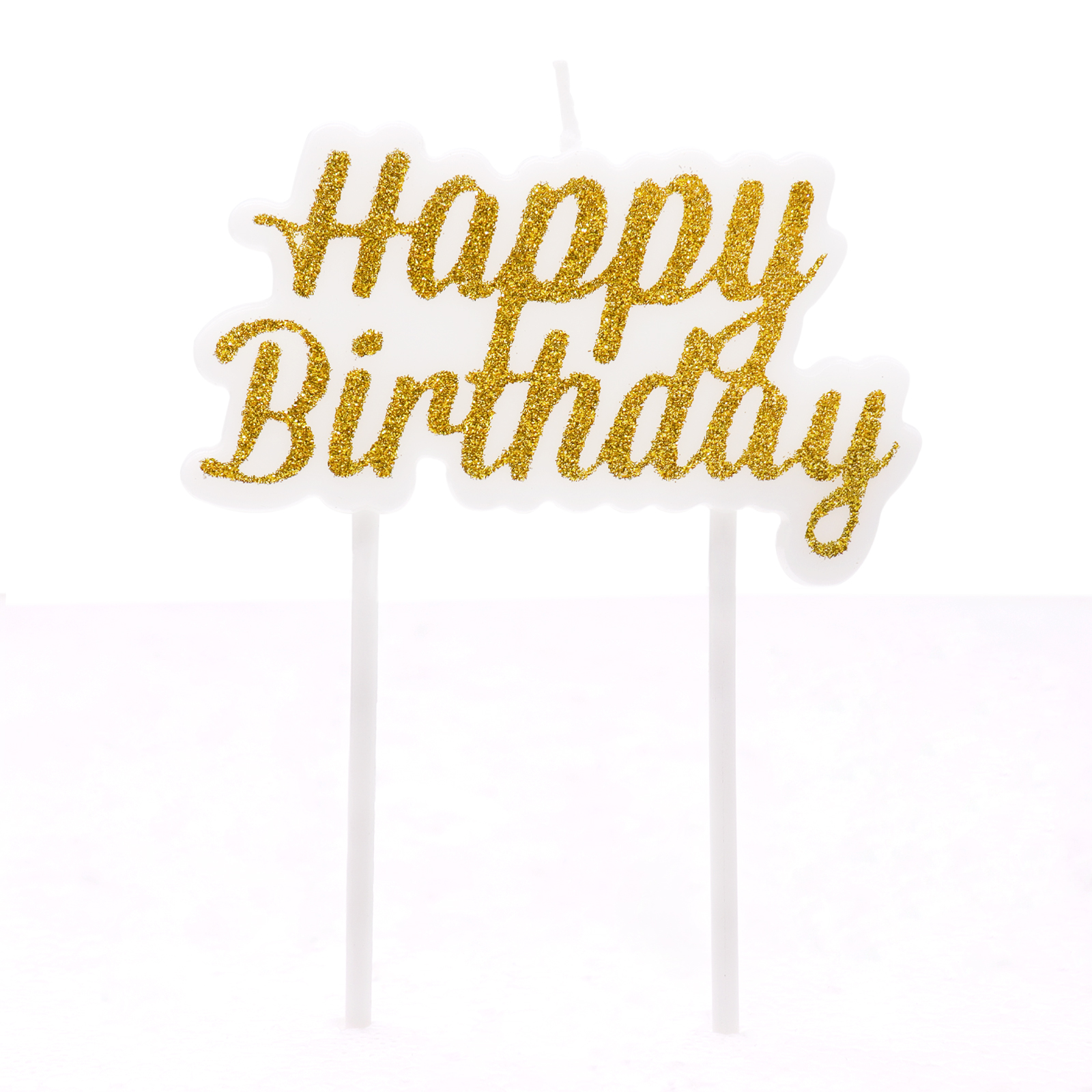 1pc Gold Silver New Shiny Powder Happy Birthday Candle Local Cake Decoration Letter