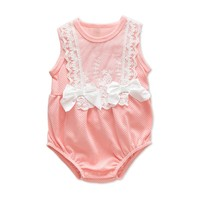 Baby Rompers for Babe Sleeveless One pieces Cotton Skin friendly Baby Rompers Infant Jumpsuit