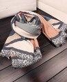 Зимний шарф люксовый бренд 2016 женщин осень Южная Корея мода свежий элегантный длинный плед шарф мыс платок глушитель обертывание
