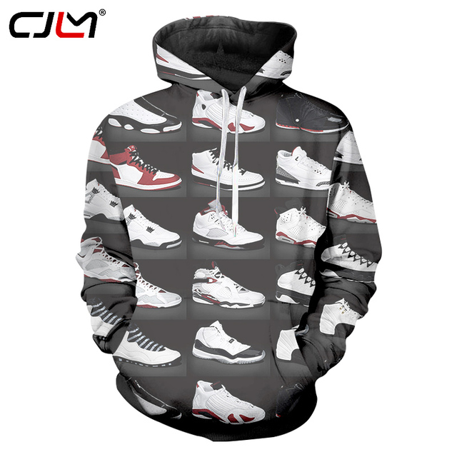 6cd2166b74b8 Cool Hoodie Sweatshirts Men Womens Hoodies Long Sleeve 3D JORDAN 23 Classic  Shoes Print Hip Hop Streetwear Hoody Pullover Jacket