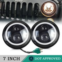 7 Inch Round LED Headlights H4 To H13 Adapters H4 Antiflicker Error Free Adapter