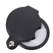 Mini Pocket 5X 45mm Folding Jewelry Magnifier Magnifying Eye Glass Loupe Lens black