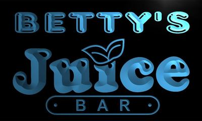 x2014-tm Bettys Juice Bar Custom Personalized Name Neon Sign Wholesale Dropshipping On/Off Switch 7 Colors DHL