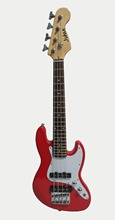 34′(86cm) Kids & Adult electric bass guitar_ Jstar JB electric bass guitar for kids practice and band_small bass Guitar (Red)