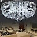 Круглая светодиодная Хрустальная потолочная лампа для спальни  гостиной  современная хрустальная лампа для спальни  лампа для зала  Высоко...