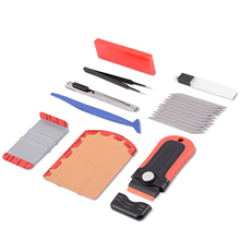 EHDIS Vinyl Car Wrap Suede Squeegee Scraper Vehicle Sticker Cutter Knife Tweezer Tool Set Carbon Fiber Film Wrapping Accessories