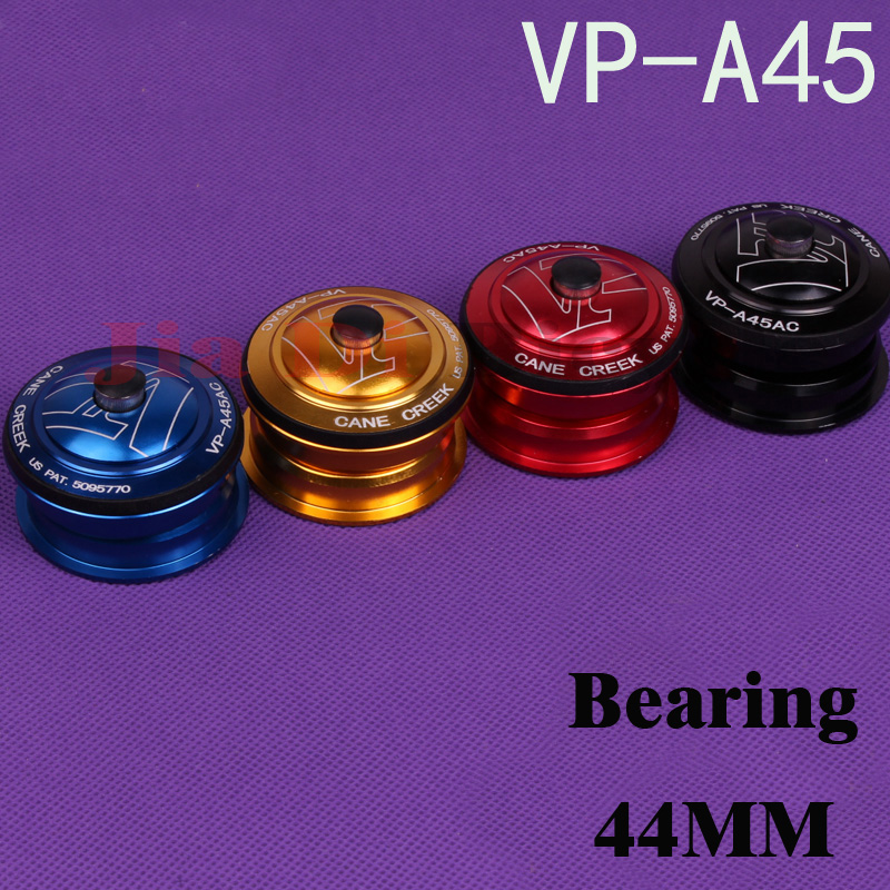 Cycling Mountain bike 44MM Headset Headset Built Aluminum Bicycle Head Peilin Bearing Headset Shipping Black Red Blue Gold