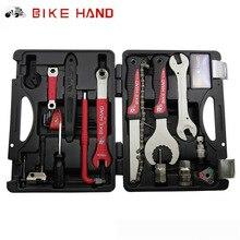 BIKEHAND 18 In 1 Multiful Fahrrad Tools Kit Tragbaren Fahrradreparatur Werkzeugkasten Set Inbusschlüssel Entferner Kurbelabzieher Radfahren Werkzeuge