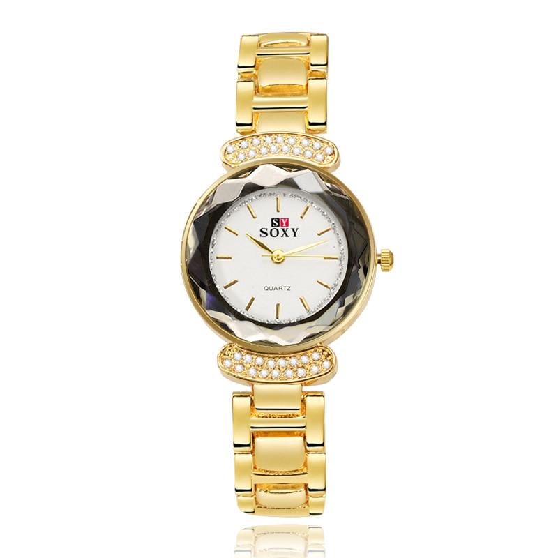 2016 New Hot sell Women Dress Watches Fashion Lady Gift Rhinestone designer Top Luxury Brand SOXY Relogio Feminino