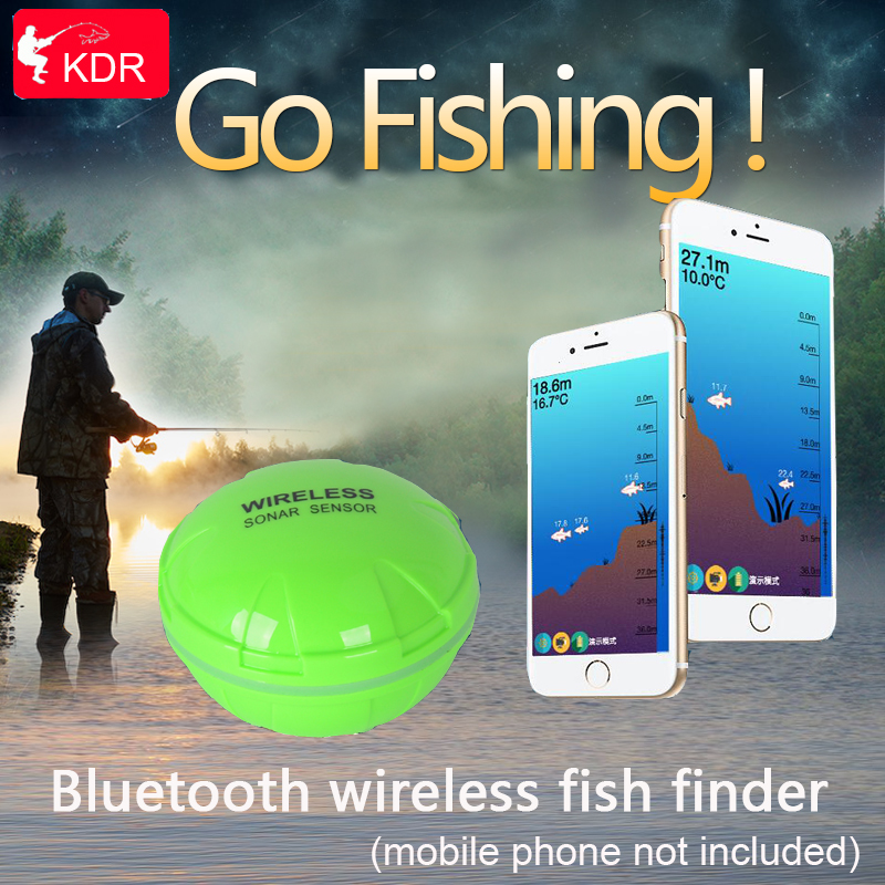 Good Portable Wireless Waterproof Electric Fish Sonar Sensor 36m Water Depth Bluetooth Link Fish Finder Fishing Accessory Sports & Entertainment Fish Finders