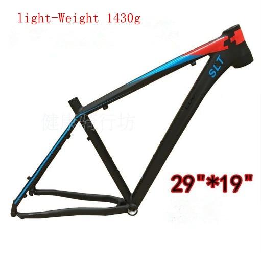 En alliage d'aluminium vtt cadre cadre de la bicyclette VTT SLT 27.5/29-19 pouce Ultra-léger cadre Contient casque tube de selle