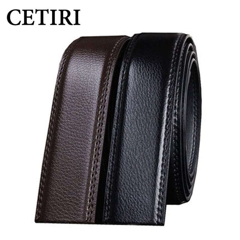 No Buckle 3.5cm Wide Real Genuine Leather Automatic s
