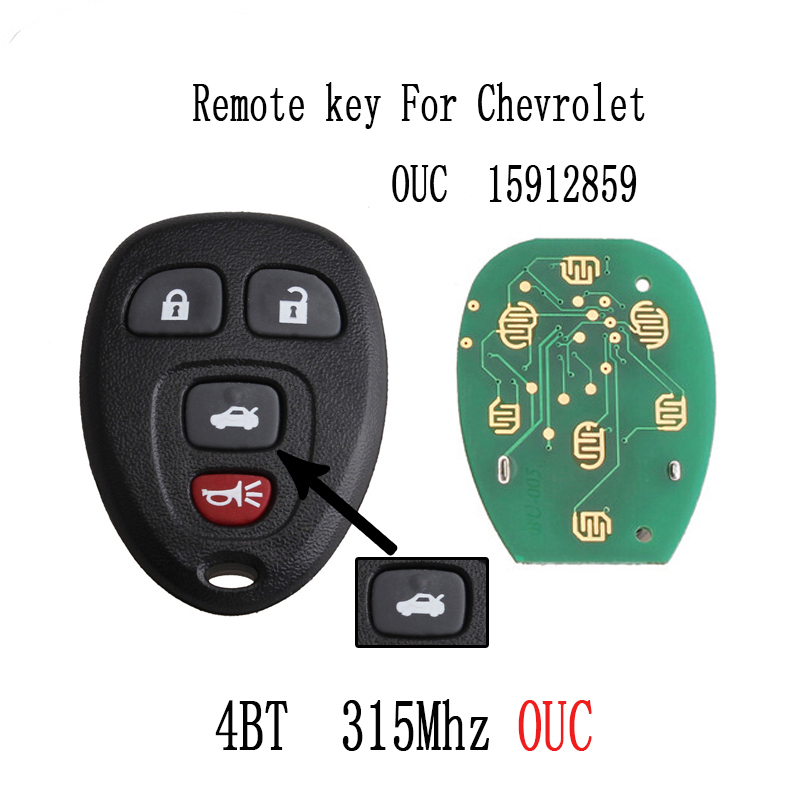 Replacement For 2006 2007 2008 2009 Chevrolet Impala Key Fob Remote Shell Case