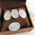 20*30 MM 100 Unids Forma Oval Espejo Shell Forma Plana Redonda de Agua Dulce Natural Shell Joyería de Perlas