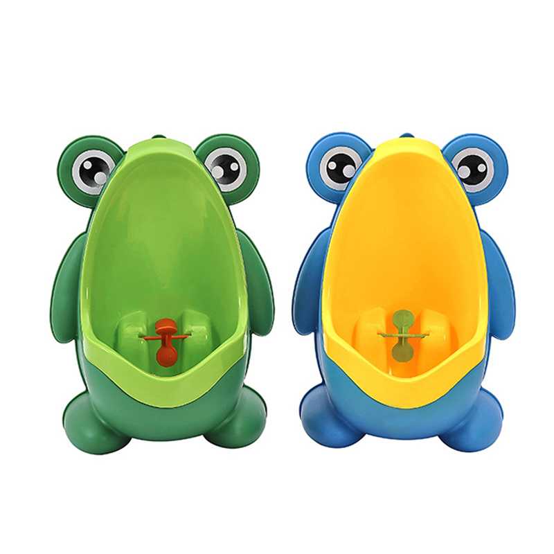 Baby Toilet Cartoon Frog Kids Boy Toilet Pee Wall-Mounted WC Training Children Stand Vertical Urinal Baby Pot Boy Potty Toilet