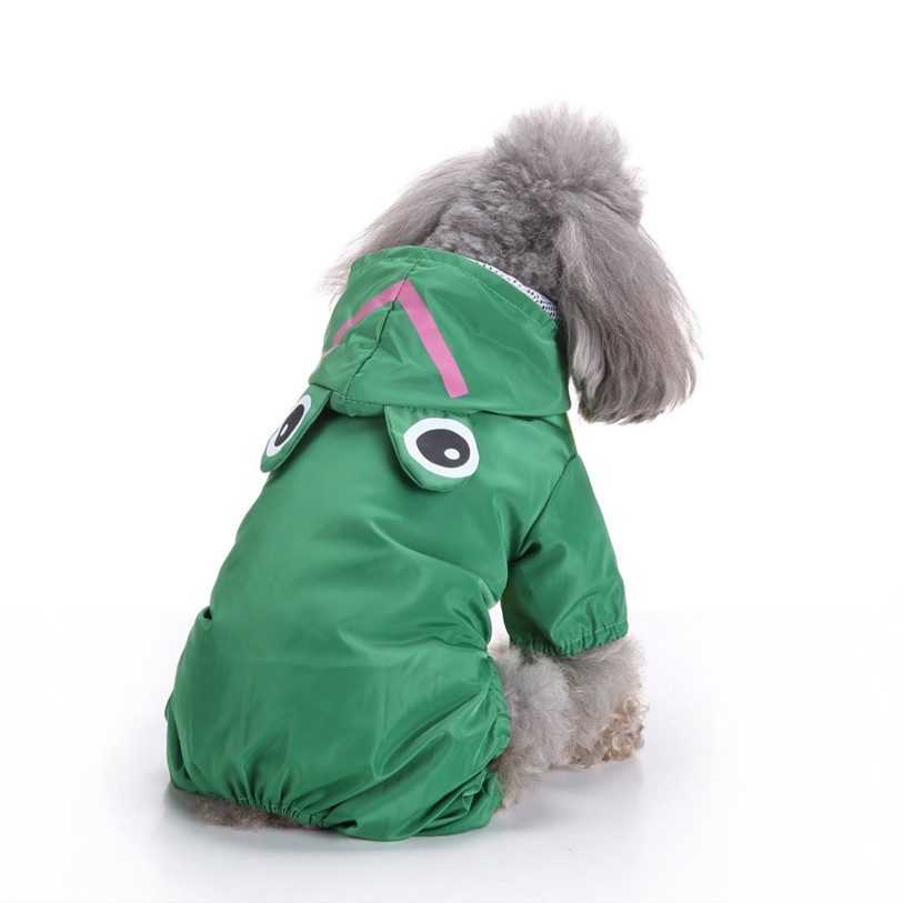 Cute Frog Rabbit Raincoat for Dogs Transparent Dog Raincoat Waterproof Hooded Cloak Summer Clothes for Dogs Dropshipping 40AT14 (3)