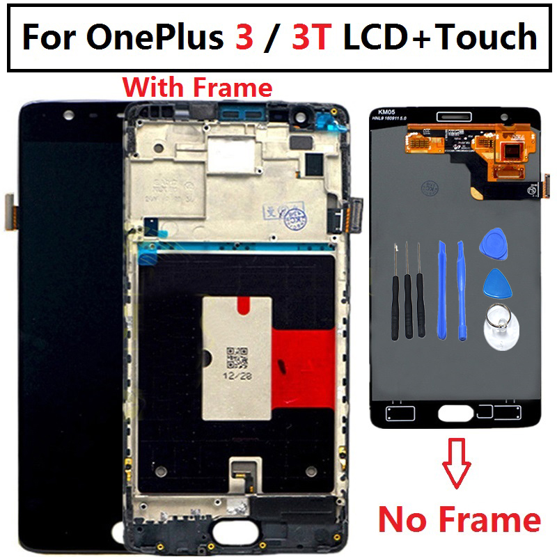 """Image 2 - Oneplus 3T LCD Display Touch Screen 100% New FHD 5.5"""" Digitizer Assembly Replacement Accessory For One plus A3010 A3000 3 three-in Mobile Phone LCD Screens from Cellphones & Telecommunications"""