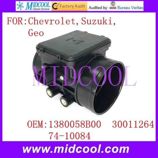 New Mass Air Flow Sensor OE No. 1380058B00 , 30011264 , 74 10084 for Chevrolet Suzuki Geo