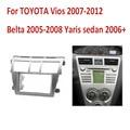 Doble 2Din Car Audio para Toyota Vios Yaris belta Sedan Stereo Fascia Panel Ajuste de la Rociada GPS Kit Adaptador Surround bisel