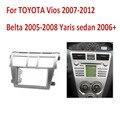 Duplo 2Din Quadro De Áudio Do Carro para Toyota Vios belta Yaris Sedan Fascia Stereo GPS Traço Painel de Guarnição Kit Adaptador de Som Surround Bezel