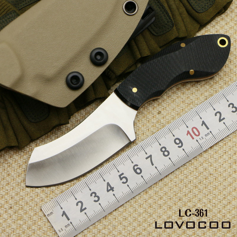 LOVOCOO made KYDEX Sheath Hunting skin knife Stainless Steel Tactical Fixed Blade Knife camp pocket knives EDC survival tools ganzo firebird f753m1 bk stainless steel blade tactical knife