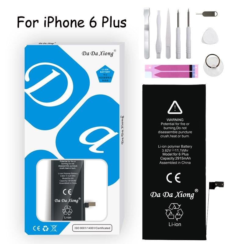 Bateria original da da xiong para iphone 6 plus 6 p 2915 mah li-ion bateria de substituição do telefone móvel batteria + ferramentas gratuitas