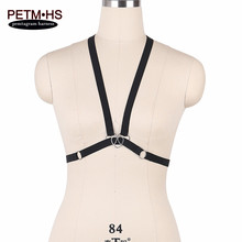 Womens Sexy Lingerie Body Harness Bra Black Elastic Bondage Underwear Belt Strappy Tops Caged Bustier Goth Exotic Apparel Corset