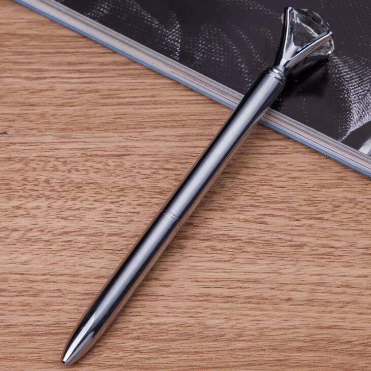 Logotipo Laser livre Navio Livre DHL Hot Pedra de Diamante de Metal Canetas Melhor Para a Empresa de Brindes Corporativos