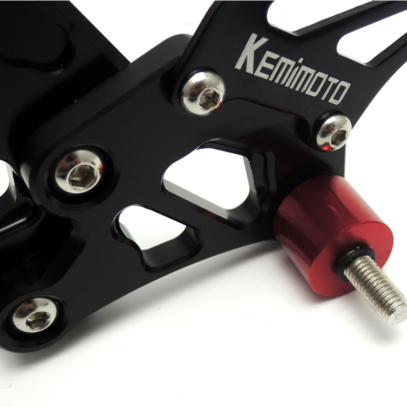 KEMiMOTO For Yamaha YZF-R6 2006 2007 2008 2009 2010 2011 2012 2013 2014 R6 Adjustable Rearsets Rear set Foot pegs Rest (6)