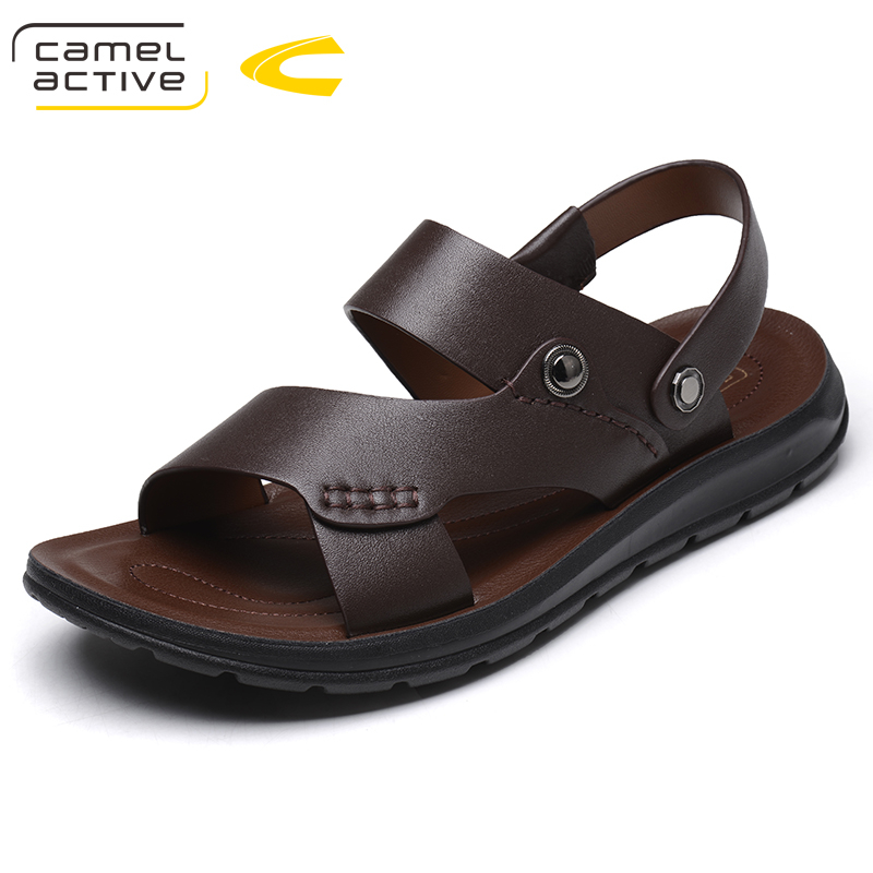 Camel Active Brand Summer Casual Male Sandals For Men Shoes Genuine Leather Quality Walking Beach Comfortable Designer Sandals