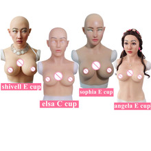 C E Cup Huge Artificial Boobs Silicone Breast Forms With Fake Face For Crossdresser transvestism Transgender shemale Dragequeen цена в Москве и Питере