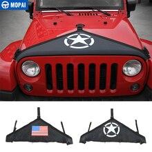 MOPAI cubierta protectora delantera de lona para Jeep Wrangler JK 2007, cubierta Exterior para motor, estilismo para coche