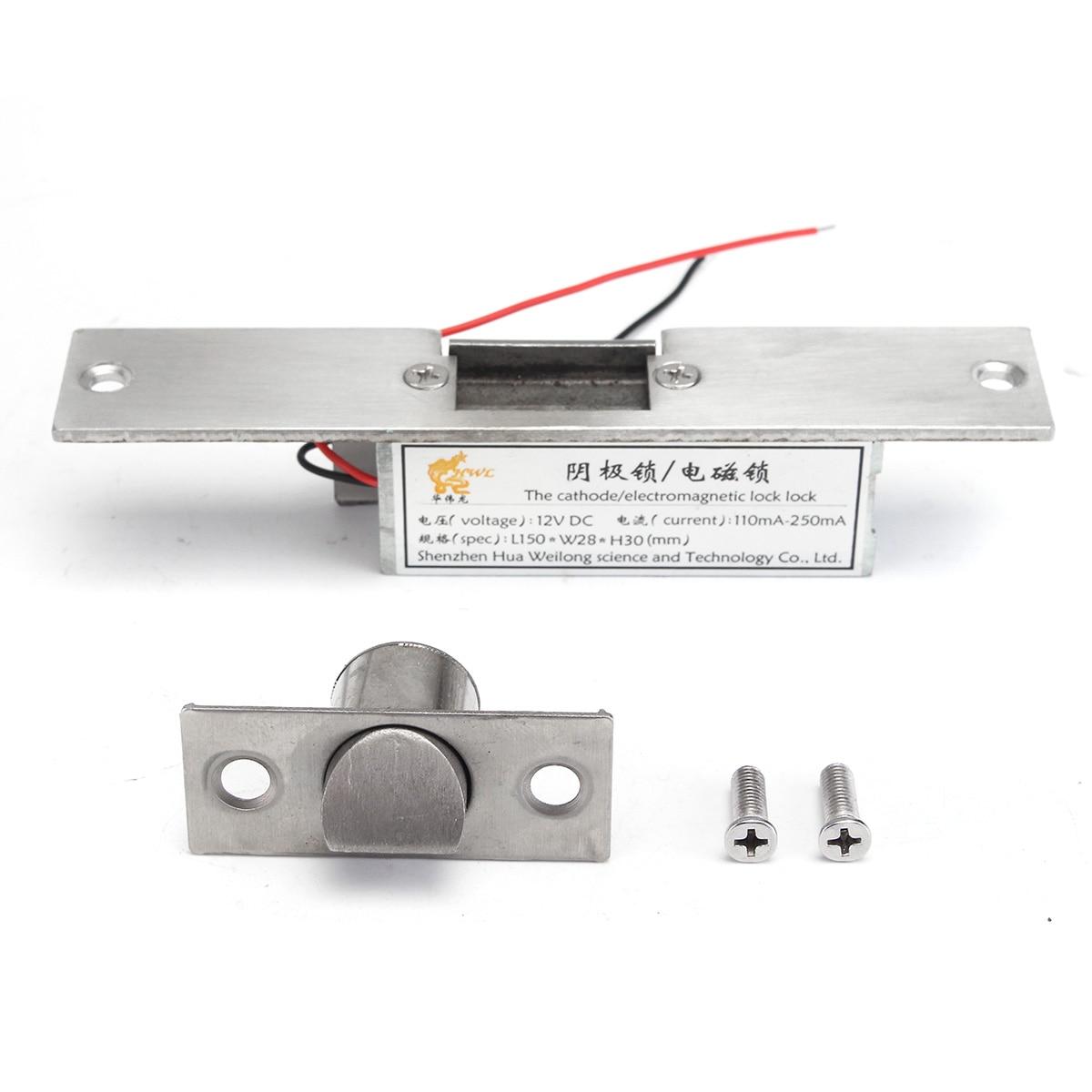 Nouveau verrou électrique de grève de Cathode NC de sécurité de sécurité 12 V pour la sécurité à la maison de porte en métal en bois de contrôle d'accès