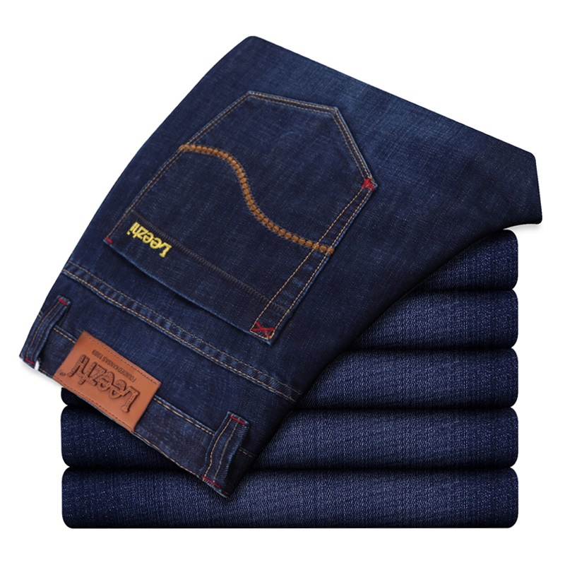 2015 men s business casual jeans straight skinny jeans The European and American style plus size
