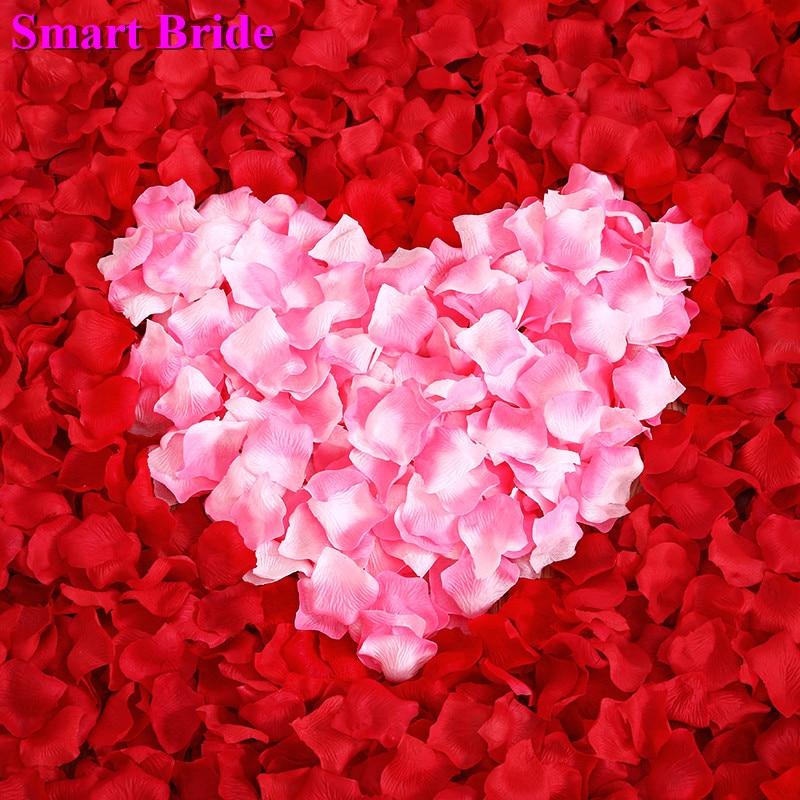 Wedding Rose Petals Red Pink White 2020 Petal Flower Party Decoration Accessories De Mariage Petale De Rose Marriage 1000 Pcs