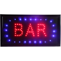 CHENXI New Animated Bar Neon Led Open Sign 19 X 10 Inch ON Off Switch + Hanging Chain Lots of Styles Bar Beer Pub Light Display.