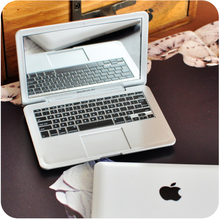 Mirror For Apple MacBook Shaped Mirror Book Air Silver Mini Novel Makeup Mirror Book Air  Mini Mirror