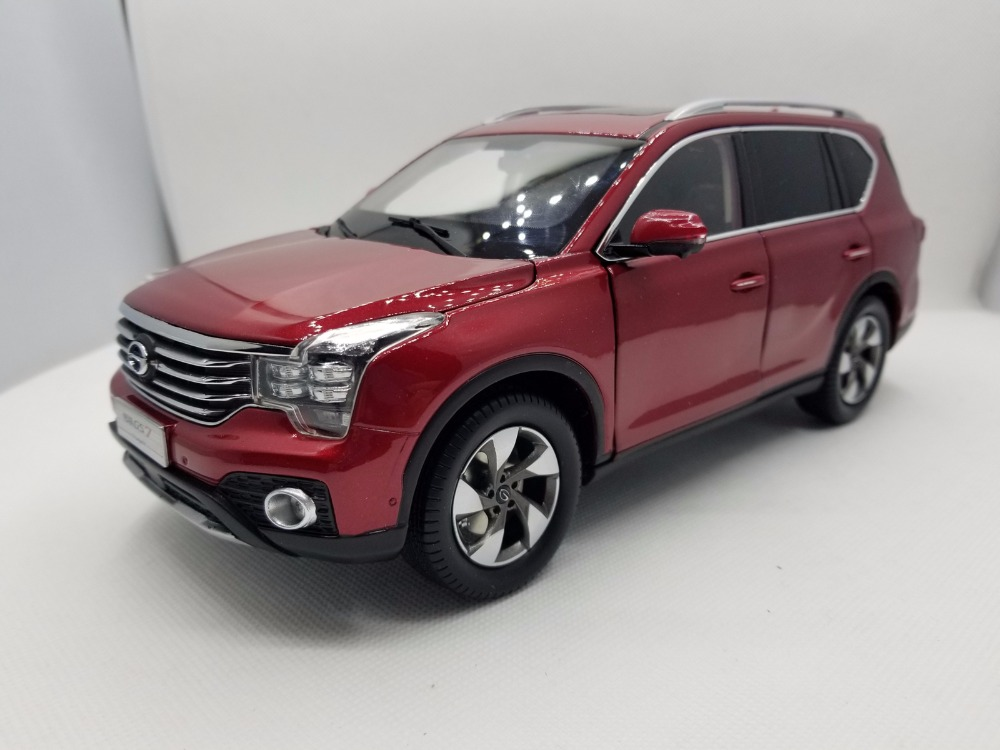 1:18 Diecast Model for GAC Trumpchi GS7 2017 Red SUV Alloy Toy Car Miniature Collection Gifts China Brand 1 18 diecast model for volvo v60 2016 blue suv alloy toy car collection