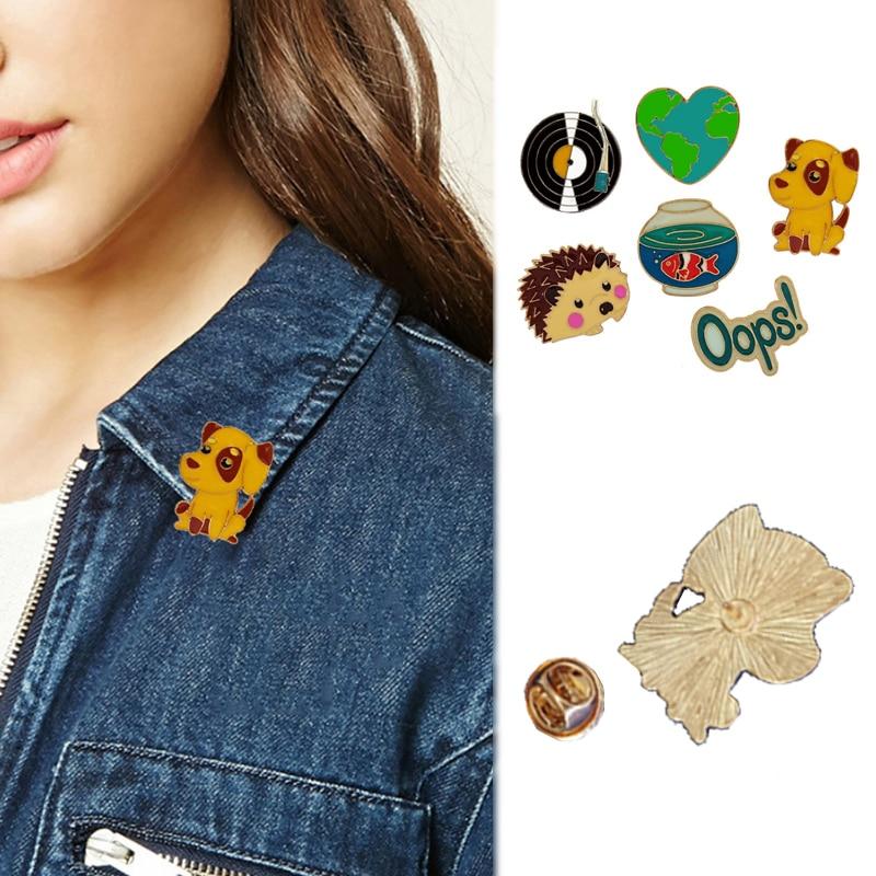 LNRRABC 2018 new Women pins Animal Accessories Brooches Fashion Popular Dog Jewelry Hedgehog Cute Hot Sale Pin camisetas mujer