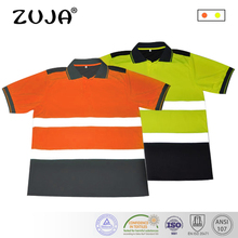 High Visibility Safety Work Shirt Breathable Clothes Reflective Polo