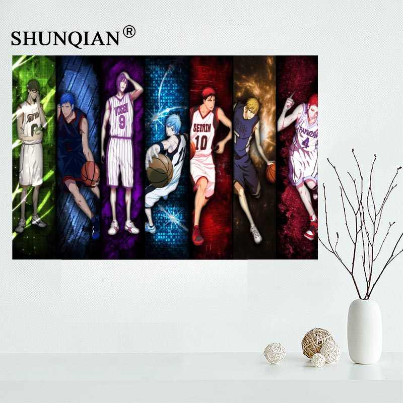 Kuroko No Basket Canvas Cloth Poster For Home Decor Painting Art Custom Print Picture