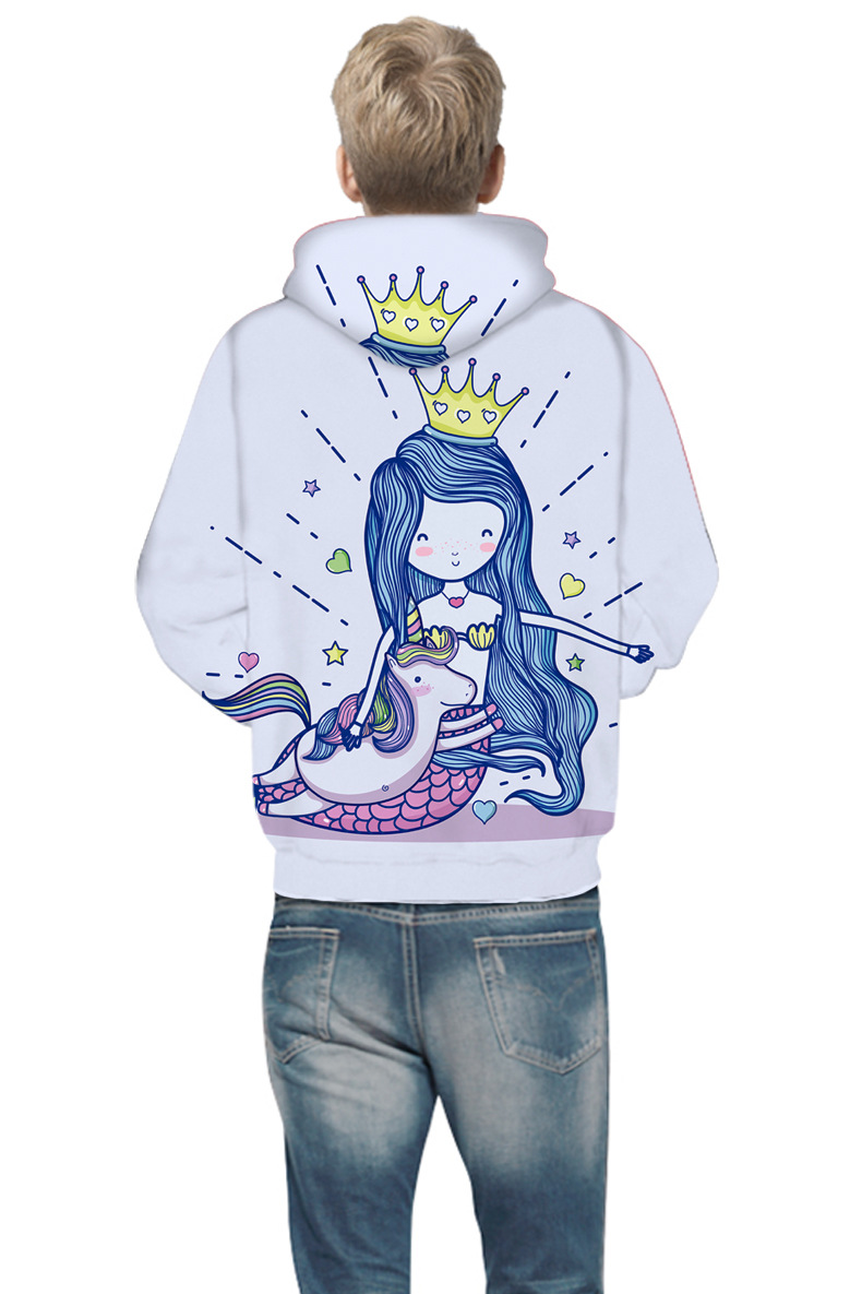 14d765bcc51f9 2019 Unicorn Wolf 3D Print Boys Girls Hoodies Spring Autumn ...