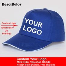 2019 New Fashion Logo Cotton Baseball Cap Snapback Simple Solid Hats For Men Gorras Bone Masculino 10pcs/lot