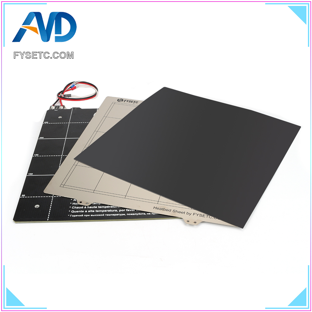 3D Printer Parts Magnetic Heated Bed <font><b>24V</b></font> Wiring Thermistor Kit With Steel Sheet 300*300mm For Creality CR-10 CR10 BLV MGN Cube image