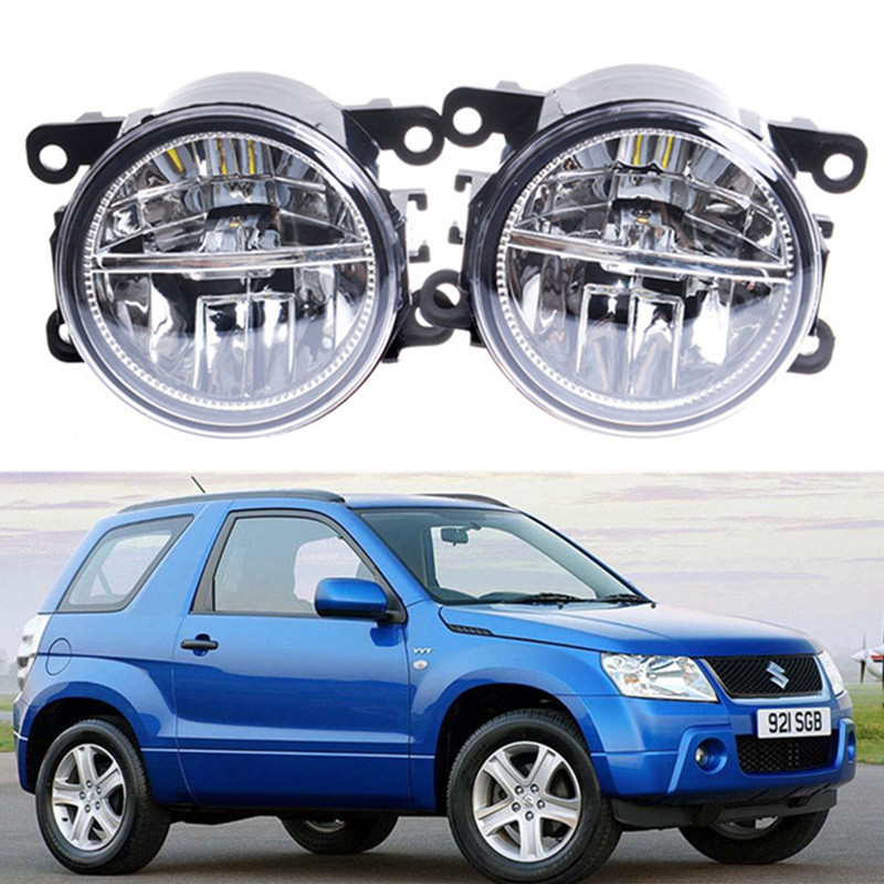 For SUZUKI JIMNY FJ Closed Off-Road Vehicle 1998-2014 Car styling Front bumper LED fog lights 10W high brightness fog lamps 1set car styling front bumper led fog lights high brightness drl driving fog lamps 1set for acura ilx sedan 4 door 2013 2014